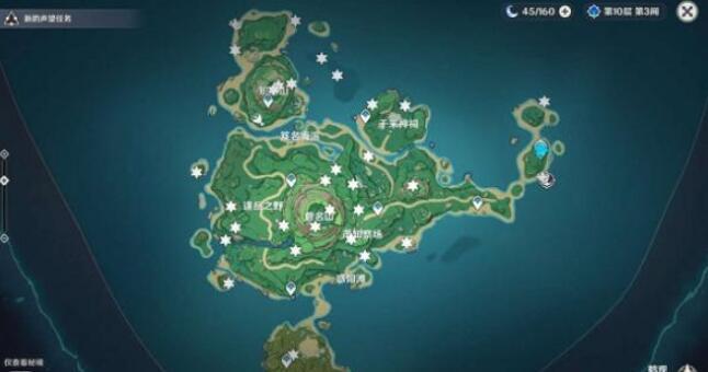 原神鹤观岛雷神瞳分布位置在哪里 原神鹤观岛雷神瞳分布图
